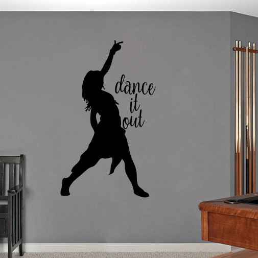 Dance it Out Vinyl Wall Decal Sticker Graphic