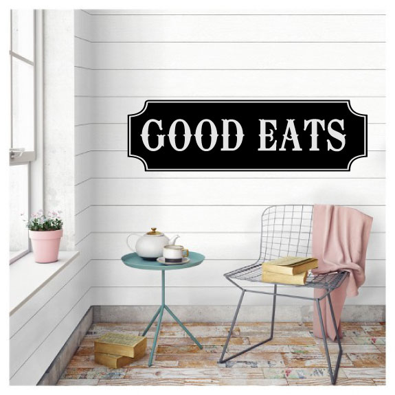 Good Eats Vinyl Wall Words Decal Sticker Graphic