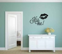 Kiss Me Vinyl Wall Words Decal Sticker