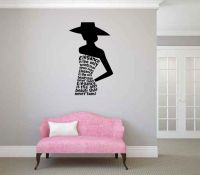 Elegance is the Only Beauty That Never Fades Vinyl Wall Decal Words