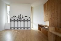 Faux Wrought Iron Gate Vinyl Wall Decal Sticker Graphic