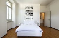 Be Yourself, Think Young, Laugh Loud Vinyl Wall Decal Words