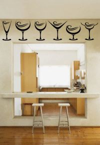 Wine Glasses Vinyl Wall Decal Sticker Graphic