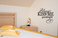 Always Kiss Me Goodnight Wall Words Quote Decal Sticker