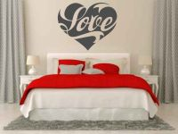 Love Heart Vinyl Wall Words Decal Sticker Graphic