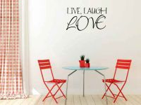 Live Laugh Love Vinyl Wall Words Decal Sticker Graphic