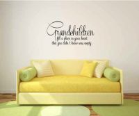 Grandchildren Fill a Place in Your Heart That You Didn't Know Was Empty Vinyl Wall Words Decal Stick