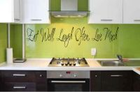 Eat Well Laugh Often Love Much Vinyl Wall Words Decal Sticker Graphic