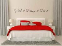Wish it. Dream it. Do it. Vinyl Wall Words Decal Sticker Graphic