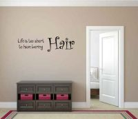 Life is Too Short to Have Boring Hair Vinyl Wall Words Decal Sticker Graphic