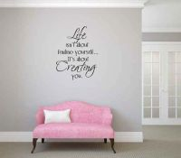 Life Isn't About Finding Yourself. It's about Creating You Vinyl Wall Words Decal Sticker Graphic