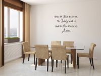 Bless the food before us, the Family beside us and the Love between us Vinyl Wall Words Decal Sticke