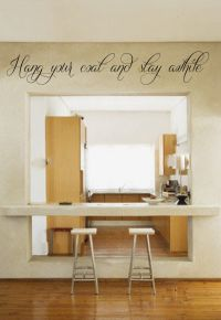 Hang Your Coat and Stay Awhile Vinyl Wall Words Decal Sticker Graphic