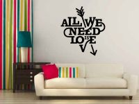 All We Need Is Love Heart Vinyl Wall Decal Words