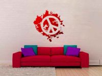 Peace Paint Splatter Vinyl Wall Decal Sticker