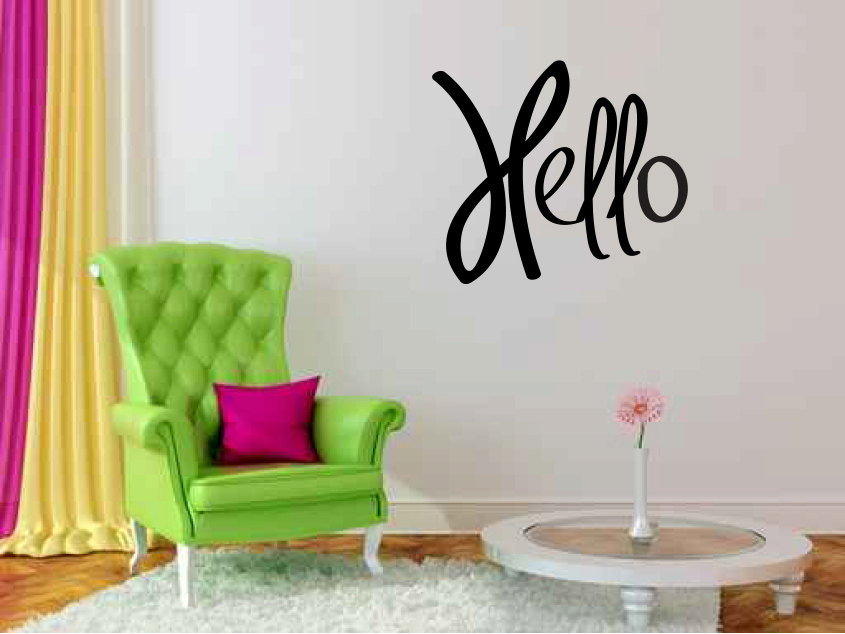 Hello Vinyl Wall Words Decal Sticker Graphic