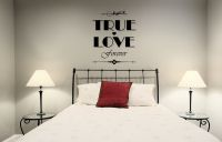True Love Forever Vinyl Wall Words Decal Sticker