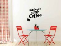 Life Begins After Coffee Vinyl Wall Words Decal Sticker Graphic