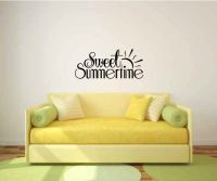Sweet Summertime Vinyl Wall Words Decal Sticker Graphic