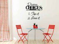 Dinner Choices Take It Leave It Vinyl Wall Words Decal Sticker Graphic