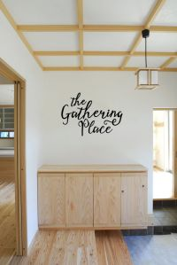 The Gathering Place Vinyl Wall Words Decal Sticker Graphic