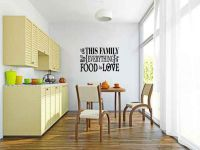 In This Family We Share Everything From Food To Love Vinyl Wall Words Decal Sticker Graphic