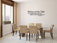 Welcome To Our Table Vinyl Wall Words Decal Sticker Graphic
