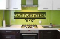Clean Up After Yourself Vinyl Wall Words Decal Sticker Graphic