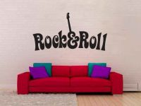 Rock and Roll Vinyl Wall Words Decal Sticker Graphic