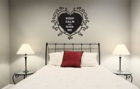 Keep Calm and Kiss Me with Heart Vinyl Wall Words Decal Sticker Graphic