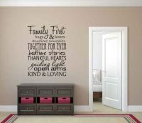 Family First Vinyl Wall Words Decal Sticker Graphic