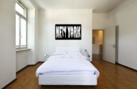 New York Vinyl Wall Words Decal Sticker Graphic