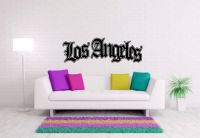 Los Angeles Graffiti Vinyl Wall Words Decal Sticker Graphic
