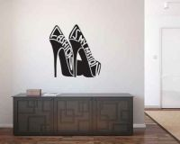 Fashion is my Passion High Heeled Shoes Vinyl Wall Words Decal Sticker Graphic