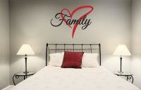 Family Heart Vinyl Wall Words Decal Sticker Graphic