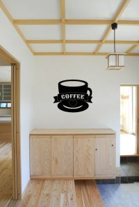 Coffee Cup Vinyl Wall Words Decal Sticker Graphic