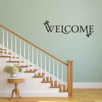 Welcome Vinyl Wall Words Decal Sticker Graphic