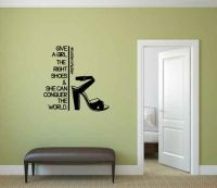 Give a Girl the Right Shoes and She Can Conquer the World Marilyn Monroe Vinyl Wall Words Decal Stic
