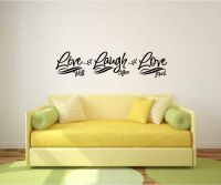 Live Well Laugh Often Love Much Vinyl Wall Words Decal Sticker Graphic