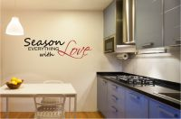 Season Everything With Love Vinyl Wall Words Decal Sticker Graphic