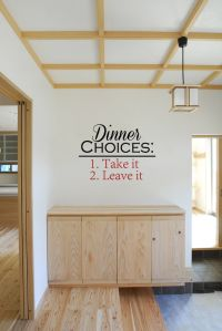 Dinner Choices: Take It Leave It Vinyl Wall Words Decal Sticker Graphic