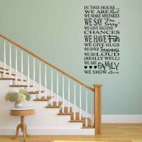 In This House Vinyl Wall Words Decal Sticker Graphic