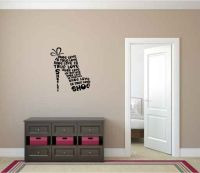 Shoe Love is True Love Vinyl Wall Words Decal Sticker Graphic
