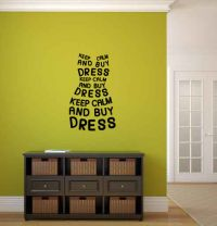Keep Calm and Buy The Dress Vinyl Wall Words Decal Sticker Graphic