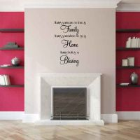 Family Home Blessing Vinyl Wall Words Decal Sticker Graphic