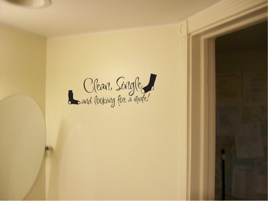 Clean Single and Looking for a Mate Vinyl Wall Words Decal Sticker