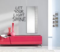 Let Your Light Shine Vinyl Wall Words Decal Sticker Graphic