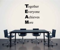 TEAM Together Everyone Achieves More Vinyl Wall Words Decal Sticker Graphic