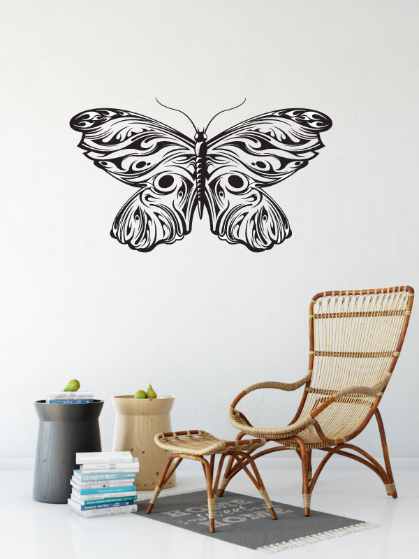 Butterfly Silhouette Vinyl Wall Words Decal Sticker Graphic