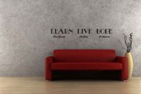 LEARN From Yesterday LIVE For Today HOPE For Tomorrow Wall Decal Words